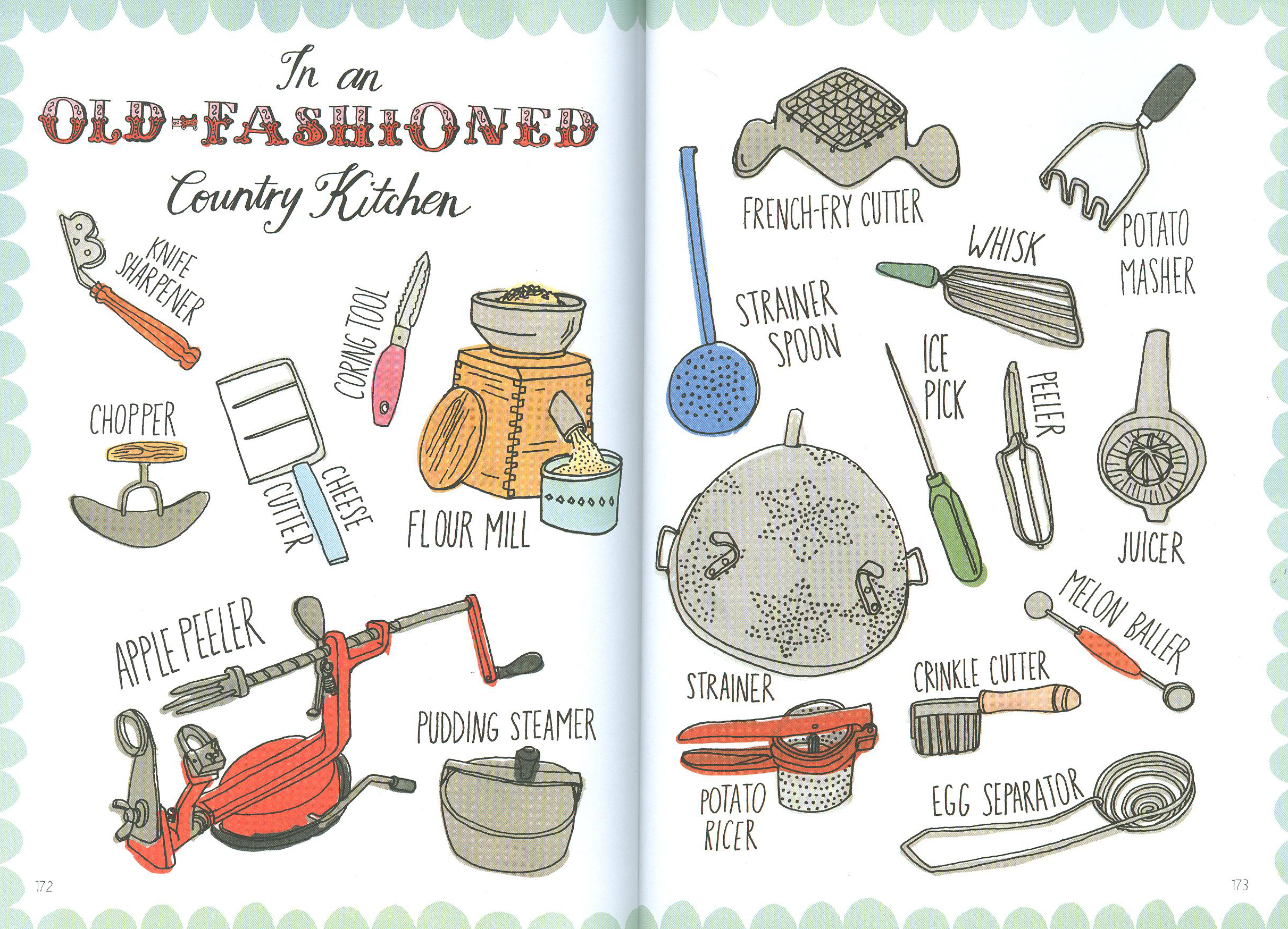 old-fashioned country kitchen