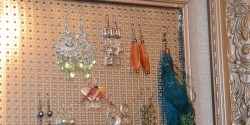 finished earring hanger