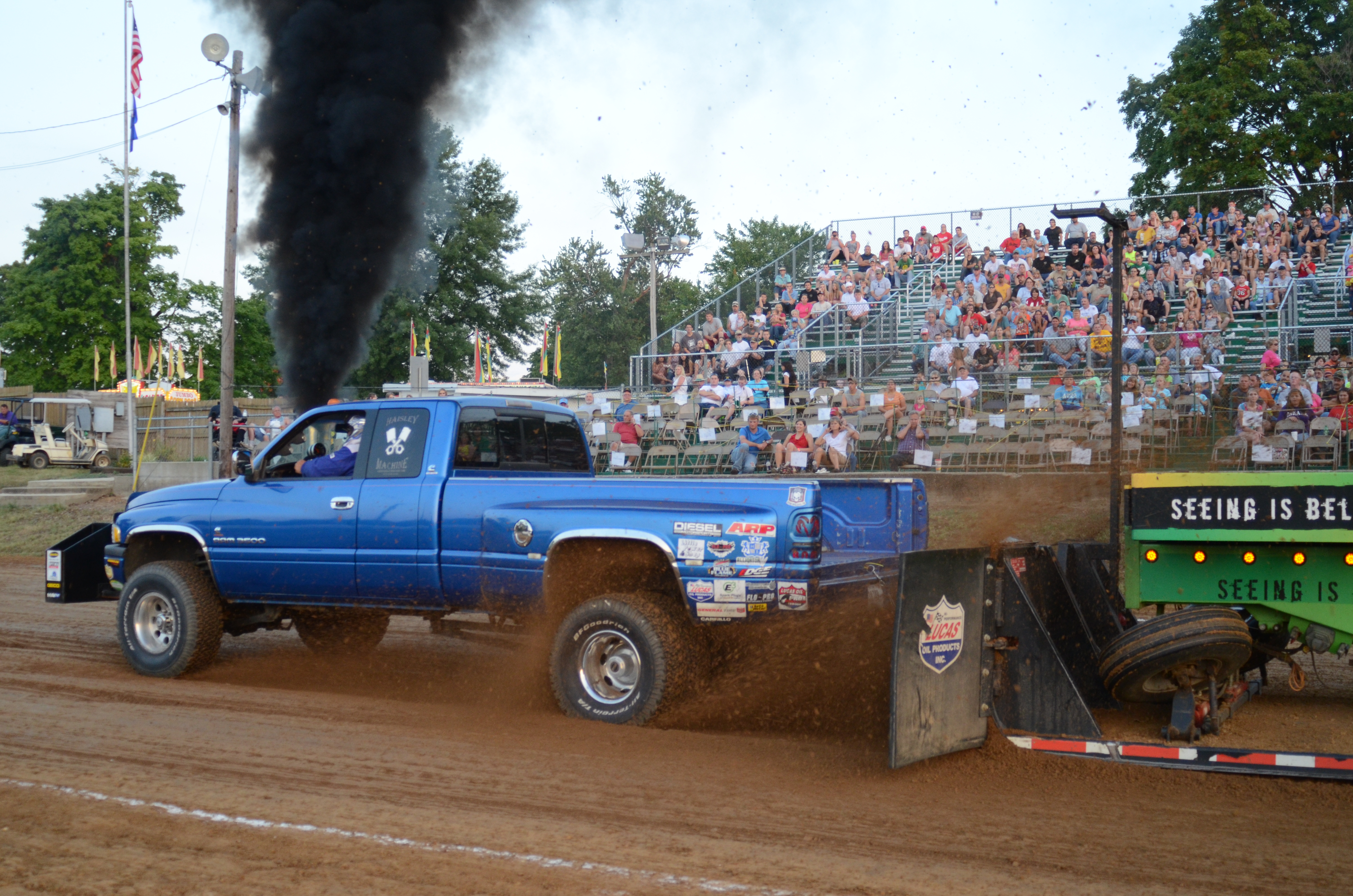 ITPA Truck Pull at the Gibson County Fair, photo by MouseInMyPocket
