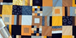 detail of (not) purdue quilt