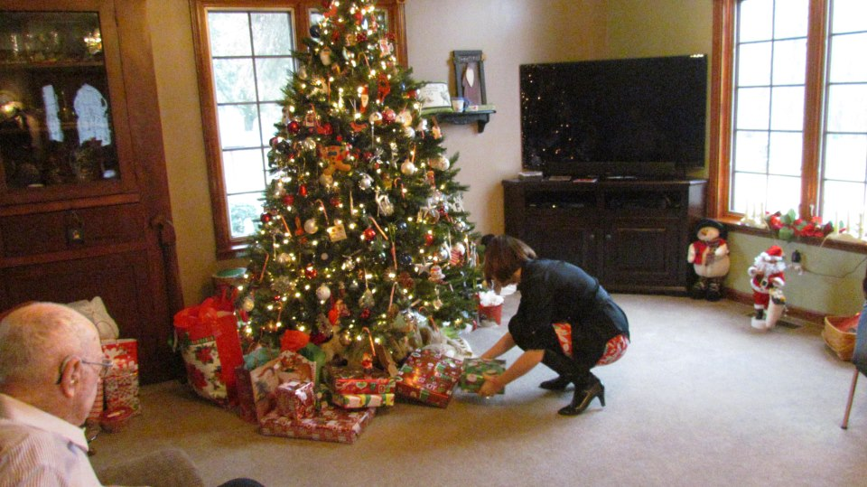 me passing out presents