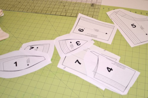 cut out bodice pieces