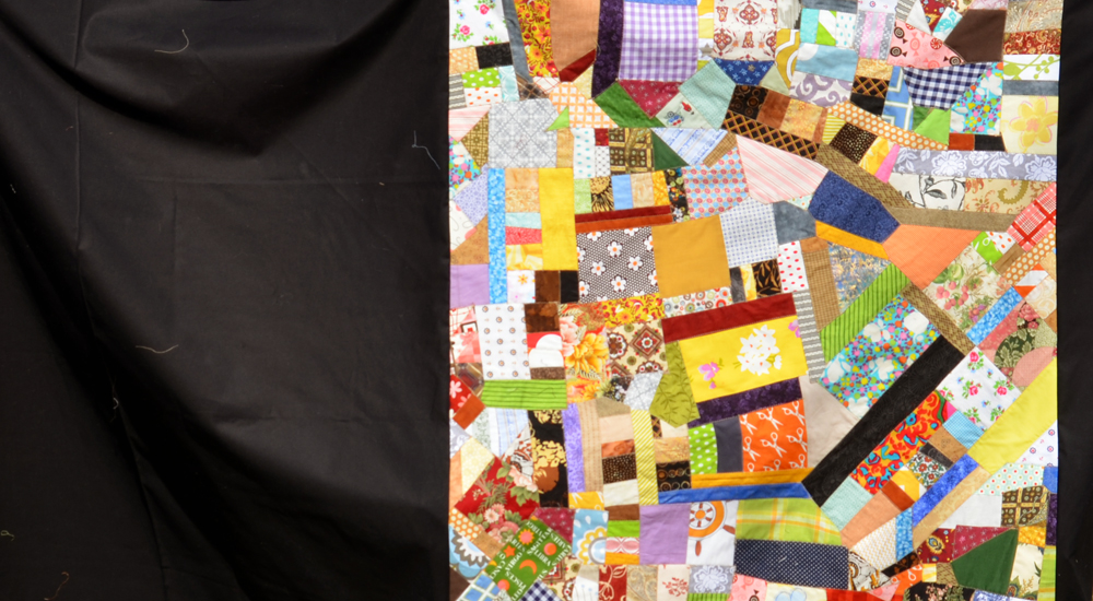 finished crazy quilt top