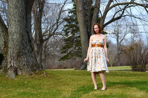 tea party dress with leather belt
