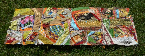 Steampunk Crazy quilt row