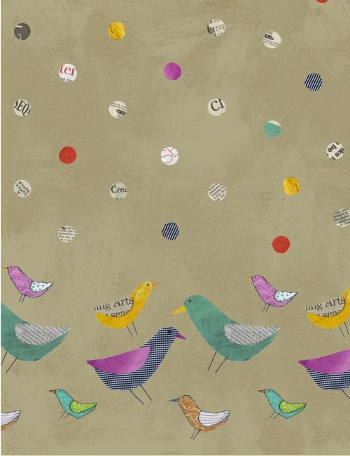 collage bird print
