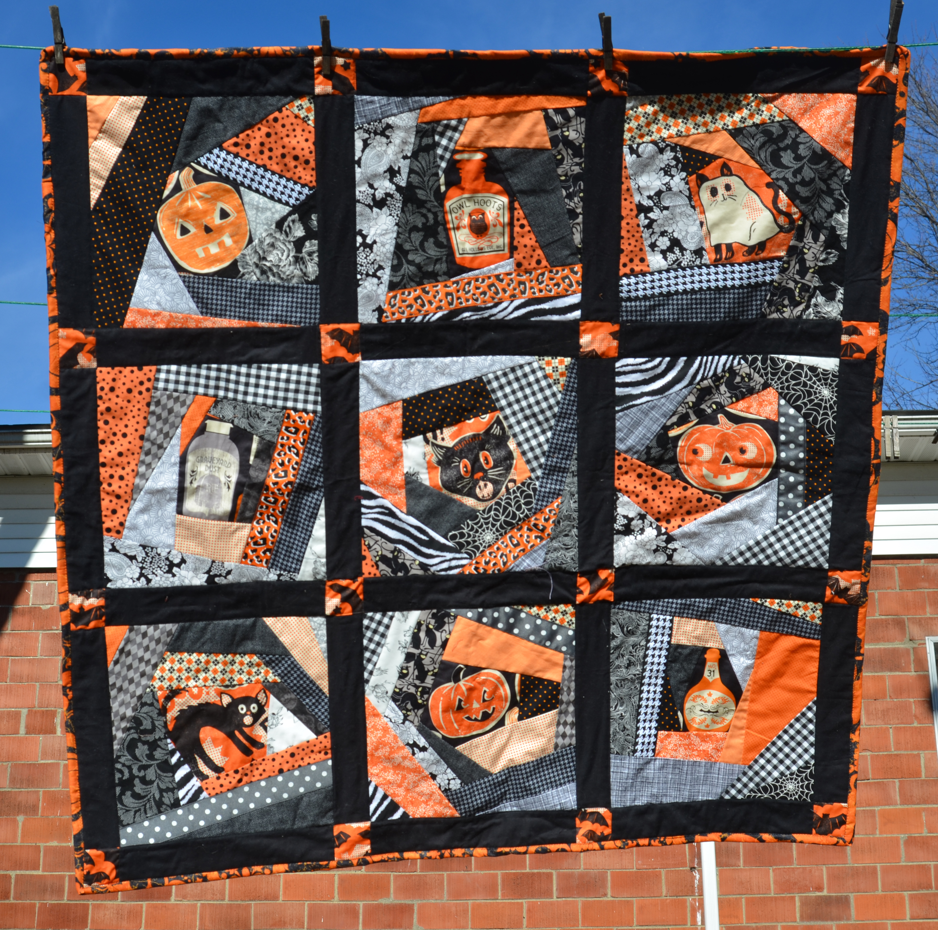 Finished Halloween Quilt