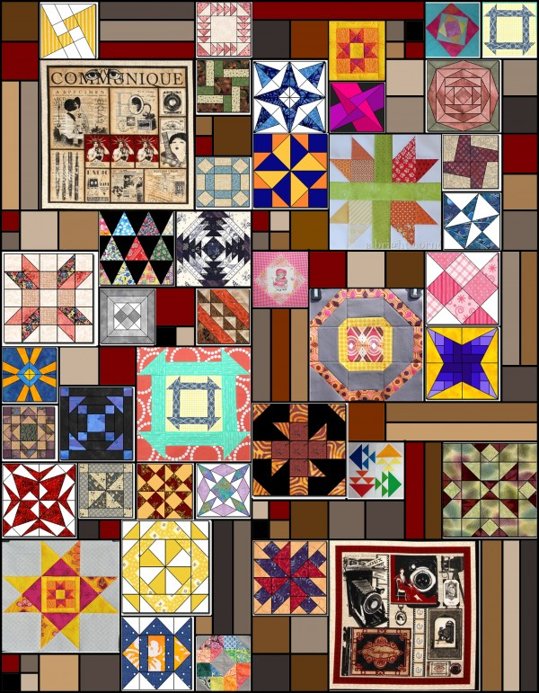 dyo quilt layout with blocks