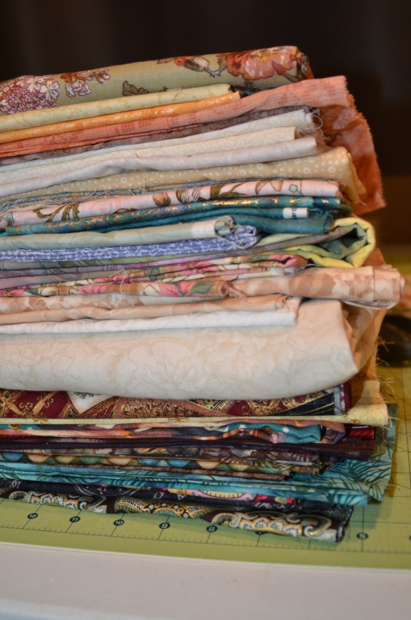 fabric pull for Easter crazy quilt