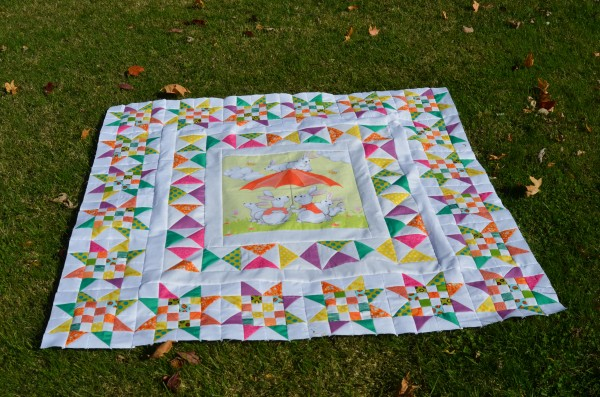 Rabbit Medallion Quilt with 2nd border