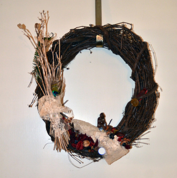 raku monk wreath