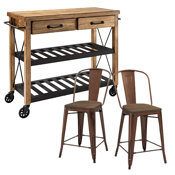Crosley Roots Rack Industrial Kitchen Cart: Friday Favorites- Kitchen Dreams