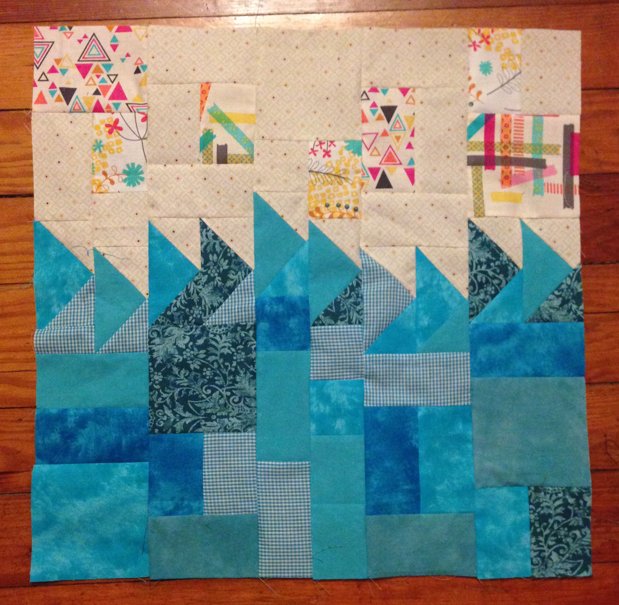 finished piecing