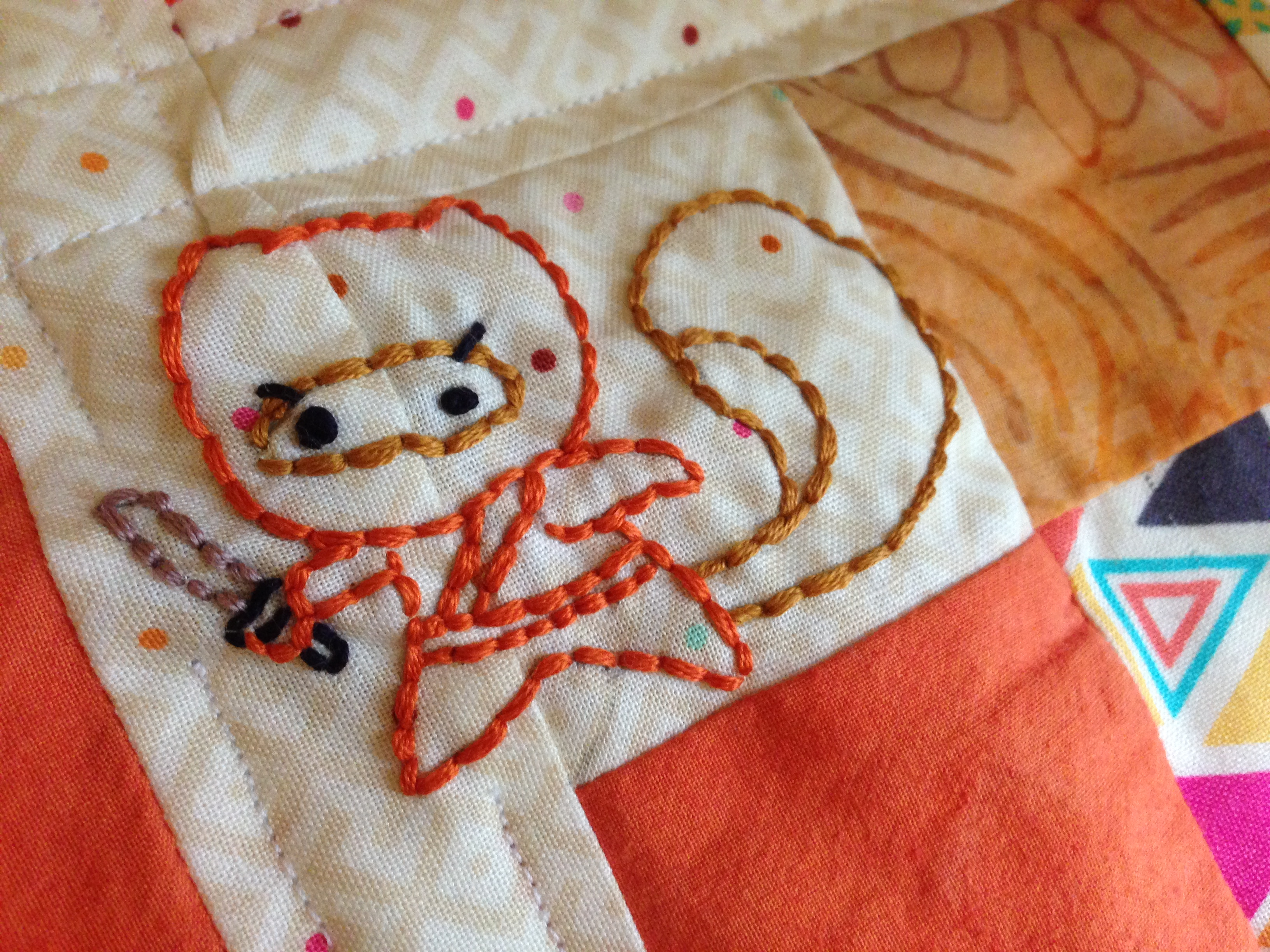Secret Squirrel Protect Your Nuts Patch: Secret Squirrel Mini Quilt