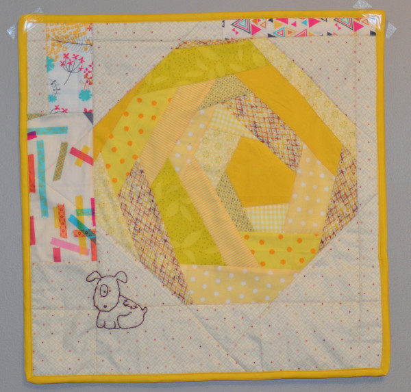 Don't Eat Yellow Snow mini quilt