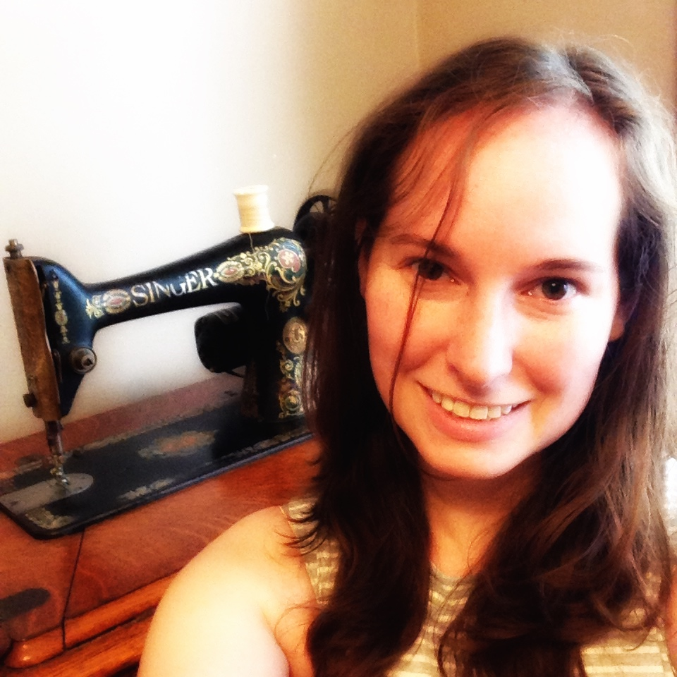 sewing machine selfie